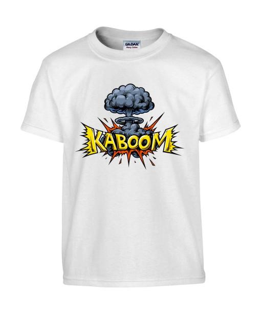 T-shirt Homme Pop Art Kaboom [Explosion, Bombe Nucléaire, Graffiti, Rétro, Comics, Cartoon] T-shirt Manches Courtes, Col Rond