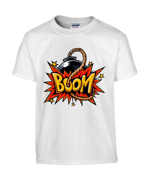 T-shirt Homme Pop Art Kaboom [Explosion, Dynamite, Graffiti, Rétro, Comics, Cartoon] T-shirt Manches Courtes, Col Rond