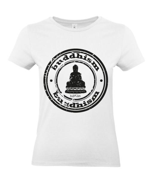 T-shirt Femme Buddha Design [Tatouage, Graphique, Zen, Religion, Bouddha, Spiritualité, Méditation] T-shirt Manches Courtes, Col Rond