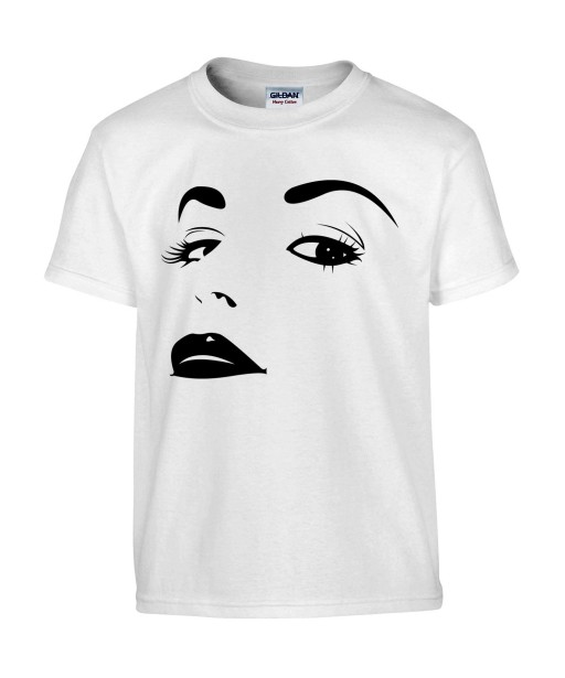 T-shirt Homme Sexy Glamour [Pin-Up, Visage, Femme, Mode, Graphique, Design] T-shirt Manches Courtes, Col Rond