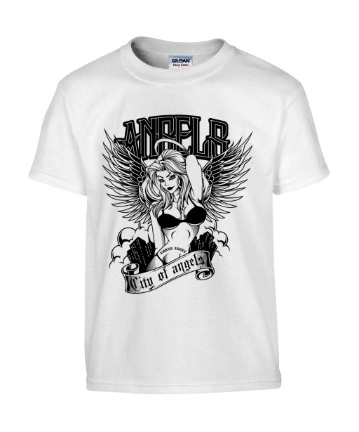 T-shirt Homme Sexy Angels [Tattoo, Tatouage, Pin-Up, Ange, Coquin] T-shirt Manches Courtes, Col Rond