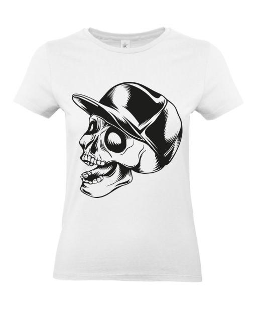 T-shirt Femme Tête de Mort Skater [Skull, Urban, Hip-Hop] T-shirt Manches Courtes, Col Rond