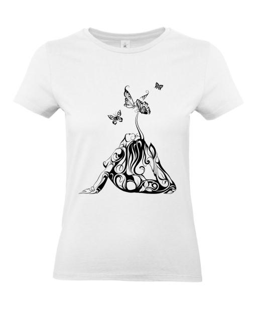 T-shirt Femme Tattoo Tribal Sexy [Tatouage, Femme, Papillon, Graphique, Design] T-shirt Manches Courtes, Col Rond