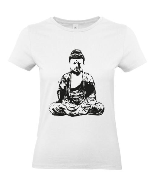 T-shirt Femme Tattoo Buddha Méditation [Tatouage, Bouddha, Religion, Yoga, Zen, Spiritualité] T-shirt Manches Courtes, Col Rond