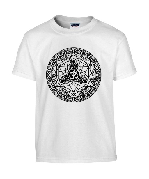 T-shirt Homme Tattoo Mandala Ohm [Tatouage, Religion, Spiritualité, Zen] T-shirt Manches Courtes, Col Rond