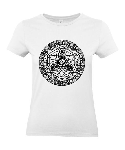 T-shirt Femme Tattoo Mandala Ohm [Tatouage, Religion, Spiritualité, Zen] T-shirt Manches Courtes, Col Rond