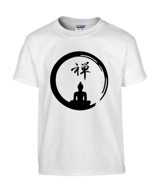 T-shirt Homme Tattoo Buddha Yoga [Tatouage, Bouddha, Religion, Méditation, Zen, Spiritualité] T-shirt Manches Courtes, Col Rond