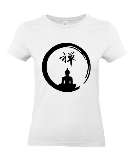 T-shirt Femme Tattoo Buddha Yoga [Tatouage, Bouddha, Religion, Méditation, Zen, Spiritualité] T-shirt Manches Courtes, Col Rond