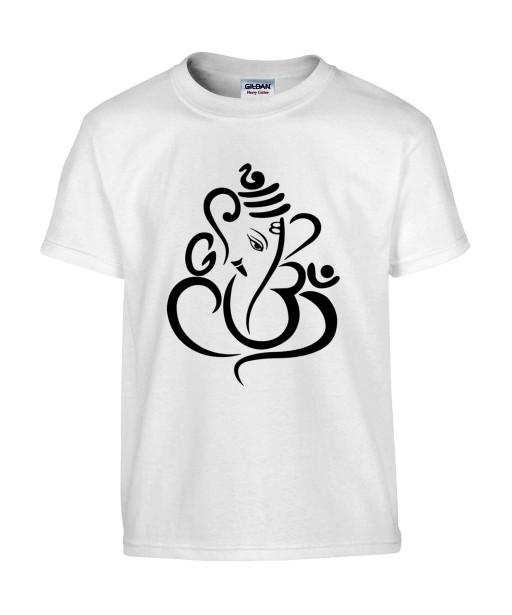T-shirt Homme Tattoo Ganesh Design [Tatouage, Religion, Yoga, Spirituel, Élephant, Dieu] T-shirt Manches Courtes, Col Rond