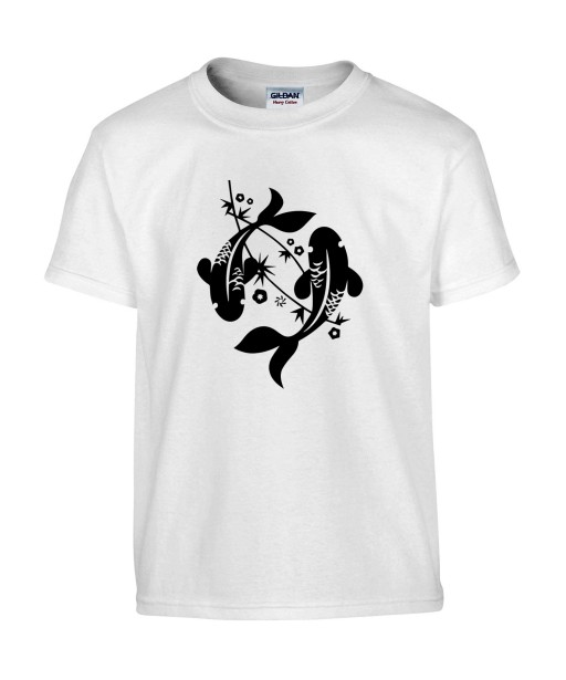 T-shirt Homme Tattoo Carpe Japonaise [Tatouage, Irezumi, Spiritualité, Japon, Zen, Animaux, Poisson, Religion] T-shirt Manches Courtes, Col Rond