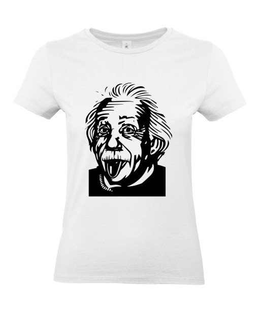 T-shirt Femme Albert Einstein [Humour, Star, Célébrité] T-shirt Manches Courtes, Col Rond