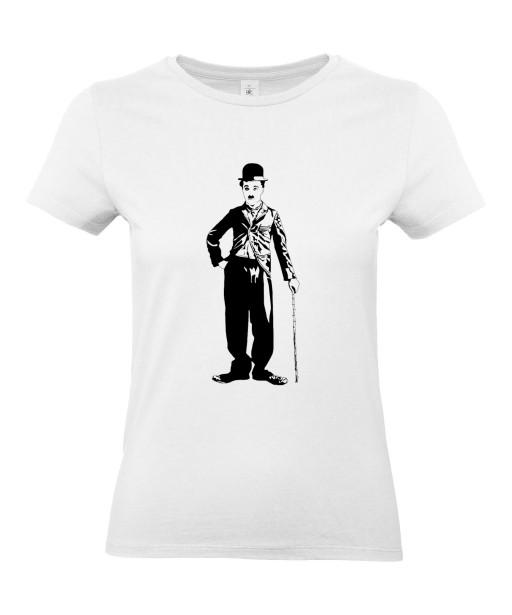 T-shirt Femme Charlie Chaplin Silhouette [Cinéma, Star, Artiste, Rétro, Films, Célébrité] T-shirt Manches Courtes, Col Rond