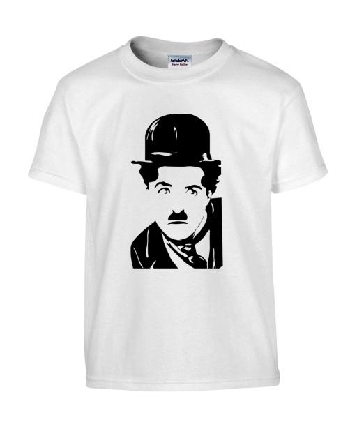 T-shirt Homme Charlie Chaplin [Cinéma, Star, Artiste, Rétro, Films, Célébrité] T-shirt Manches Courtes, Col Rond