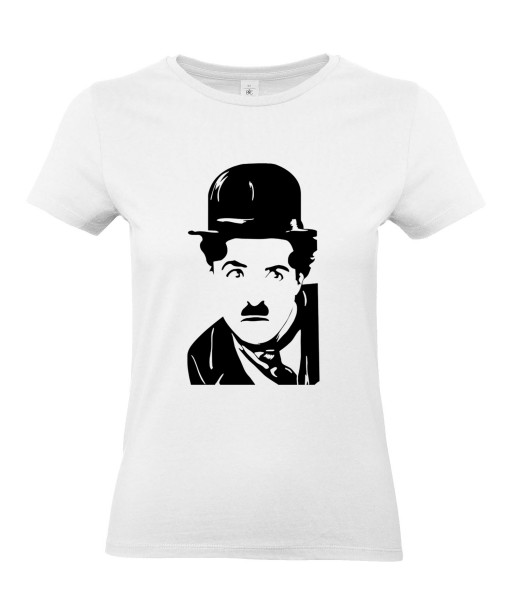 T-shirt Femme Charlie Chaplin [Cinéma, Star, Artiste, Rétro, Films, Célébrité] T-shirt Manches Courtes, Col Rond