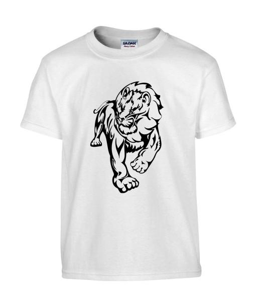 T-shirt Homme Tattoo Lion Design [Tatouage Animaux, Graphique, Zodiac] T-shirt Manches Courtes, Col Rond