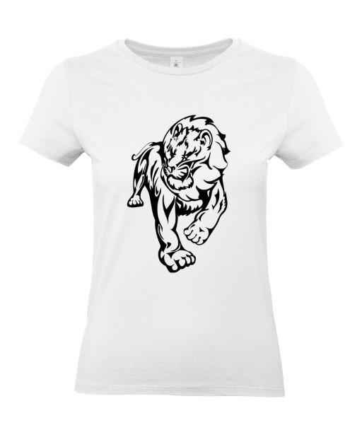 T-shirt Femme Tattoo Lion Design [Tatouage Animaux, Graphique, Zodiac] T-shirt Manches Courtes, Col Rond