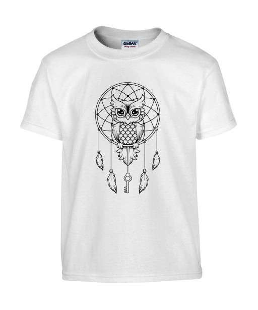 T-shirt Homme Tattoo Attrape Rêves [Tatouage, Oiseau, Chouette, Hibou, Animaux, Indien] T-shirt Manches Courtes, Col Rond