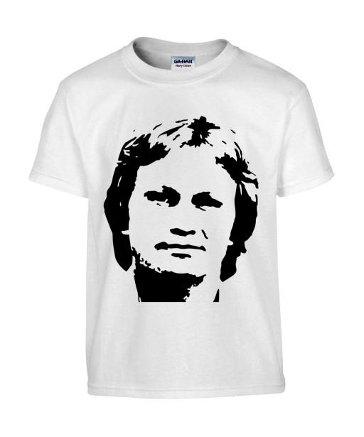 T-shirt Homme Claude Francois [Chanteur, Célébrité, Perfectionniste, Portrait, Visage] T-shirt manche Courtes, Col Rond