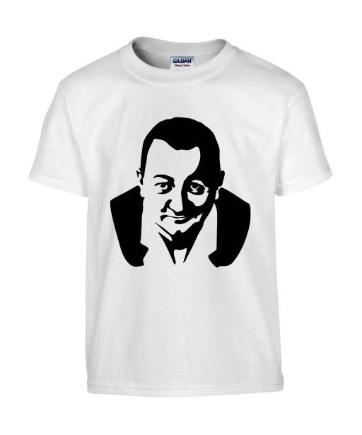 T-shirt Homme Coluche [Célébrité, Humour, humoriste, Resto du Coeur, Les enfoirés, Musique] T-shirt manche Courtes, Col Rond
