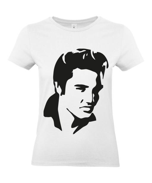 T-shirt Femme Elvis Profil [Chanteur, Célébrité, King, Presley, Musique] T-shirt manche Courtes, Col Rond