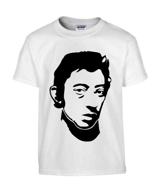 T-shirt Homme Gainsbourg [Chanteur, Gainsbarre, Célébrité, Musique] T-shirt manche Courtes, Col Rond