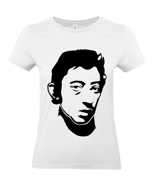 T-shirt Femme Gainsbourg [Chanteur, Gainsbarre, Célébrité, Musique] T-shirt manche Courtes, Col Rond