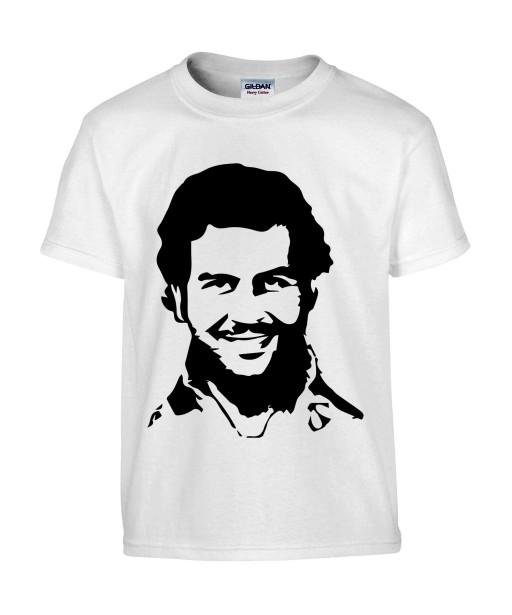 T-shirt Homme Pablo Escobar [Célebrité, Drogue, Cocaine, Narcos, Narcotrafiquant, Gangster] T-shirt manche Courtes, Col Rond