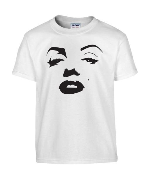 T-shirt Homme Bouche Marilyn Monroe [Grain de beauté, Musique, Sexy, Actrice, Poupoupidou, Célébrité] T-shirt manche Courtes, Col Rond