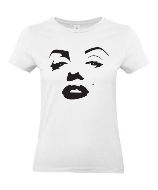 T-shirt Femme Bouche Marilyn Monroe [Grain de beauté, Musique, Sexy, Actrice, Poupoupidou, Célébrité] T-shirt manche Courtes, Col Rond