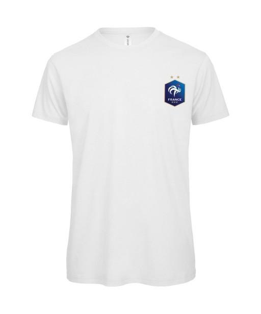 T-shirt Homme France [Foot, football, sport, Equipe de foot, France, Champion du monde, Euro] T-shirt manches courtes, Col Rond