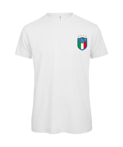 T-shirt Homme Italia [Foot, sport, Equipe de foot, Italie, Italy, 4 étoiles] T-shirt manche courtes, Col Rond