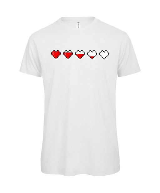 T-shirt Homme Gaming Life, Geek, Pixel, Console, Heart