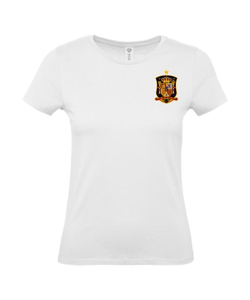 T-shirt Femme Foot Espagne [Foot, sport, Equipe de foot, Espagne, Espana] T-shirt manches courtes, Col Rond