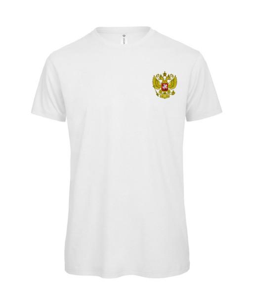 T-shirt Homme Foot Russie [Foot, sport, Equipe de foot, Russie, Sbornaïa] T-shirt manches courtes, Col Rond