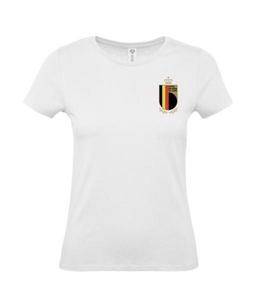 T-shirt Femme Foot Belgique [Foot, sport, Equipe de foot, Belgique, Diables Rouges] T-shirt manches courtes, Col Rond