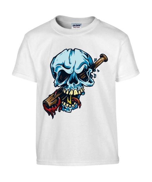T-shirt Homme Tête de Mort Trash [Skull, Humour Noir, Swag, Fun, Drôle] T-shirt Manches Courtes, Col Rond