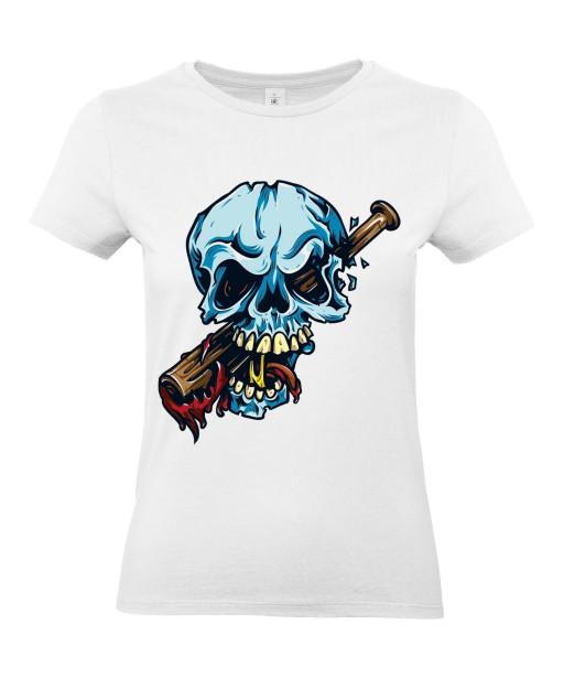 T-shirt Femme Tête de Mort Trash [Skull, Humour Noir, Swag, Fun, Drôle] T-shirt Manches Courtes, Col Rond