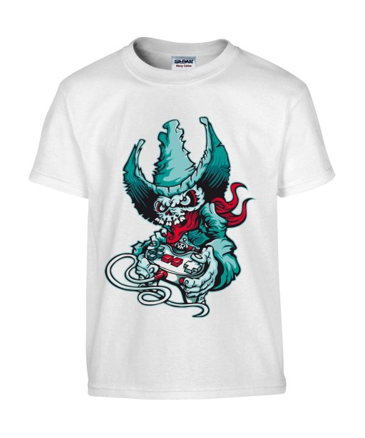 T-shirt Homme Tête de Mort Gamer [Skull, Cowboy, Western] T-shirt Manches Courtes, Col Rond