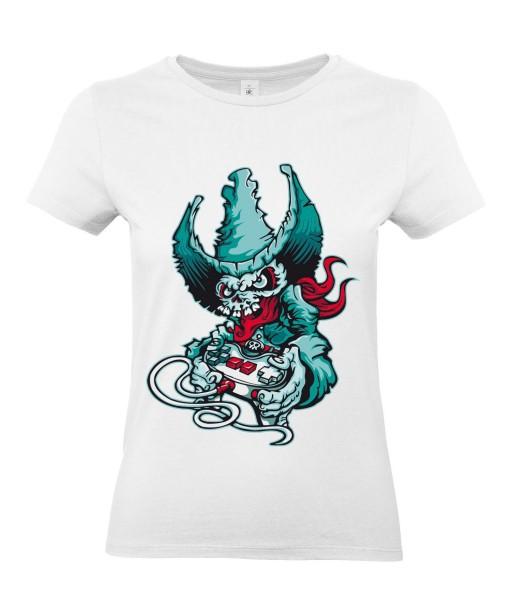 T-shirt Femme Tête de Mort Gamer [Skull, Cowboy, Western] T-shirt Manches Courtes, Col Rond