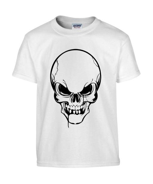 T-shirt Homme Tête de Mort [Skull, Gothique] T-shirt Manches Courtes, Col Rond