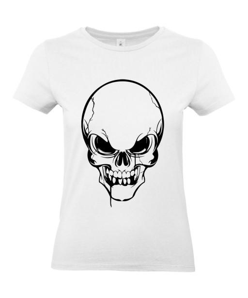 T-shirt Femme Tête de Mort [Skull, Gothique] T-shirt Manches Courtes, Col Rond