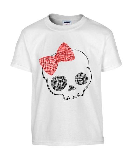 T-shirt Homme Tête de Mort Hello Kitty [Skull, Gothique, Humour Noir, Chat, Parodie] T-shirt Manches Courtes, Col Rond