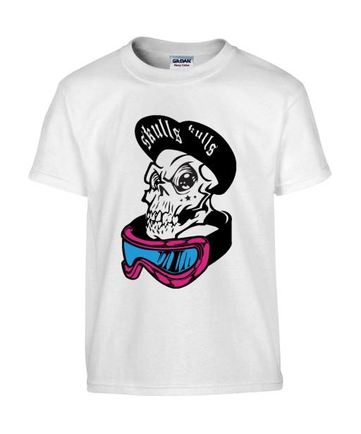 T-shirt Homme Tête de Mort Street Art [Skull, Urban, Hip-Hop, Swag] T-shirt Manches Courtes, Col Rond