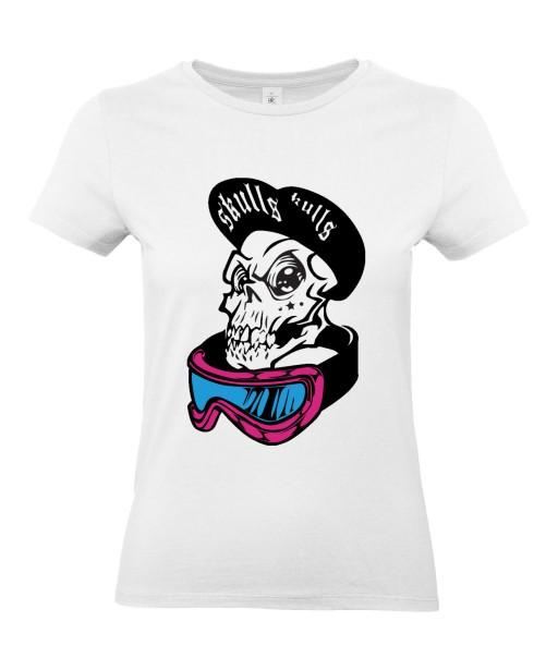 T-shirt Femme Tête de Mort Street Art [Skull, Urban, Hip-Hop, Swag] T-shirt Manches Courtes, Col Rond