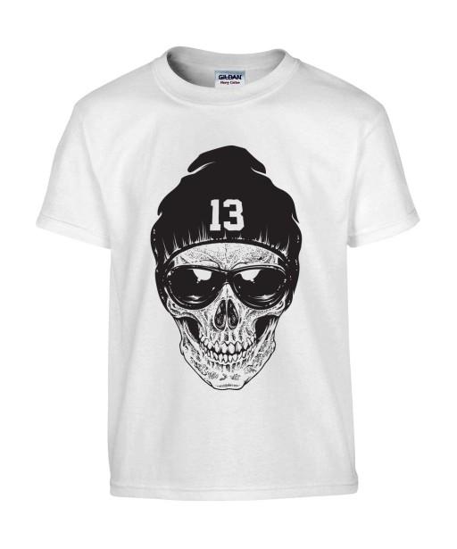 T-shirt Homme Tête de Mort Urban [Skull, Skater, Hip-Hop, Street Art, Swag] T-shirt Manches Courtes, Col Rond