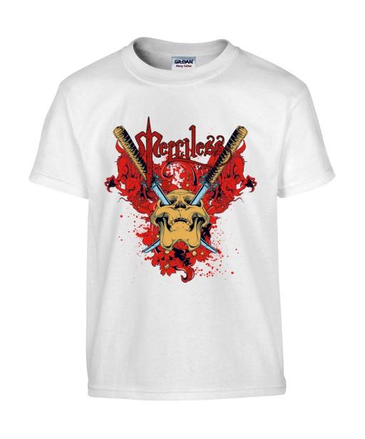 T-shirt Homme, Tête de Mort Gore [Skull, Katana, Trash, Horreur] T-shirt Manches Courtes, Col Rond