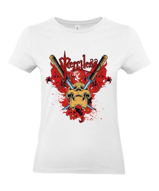 T-shirt Femme Tête de Mort Gore [Skull, Katana, Trash, Horreur] T-shirt Manches Courtes, Col Rond