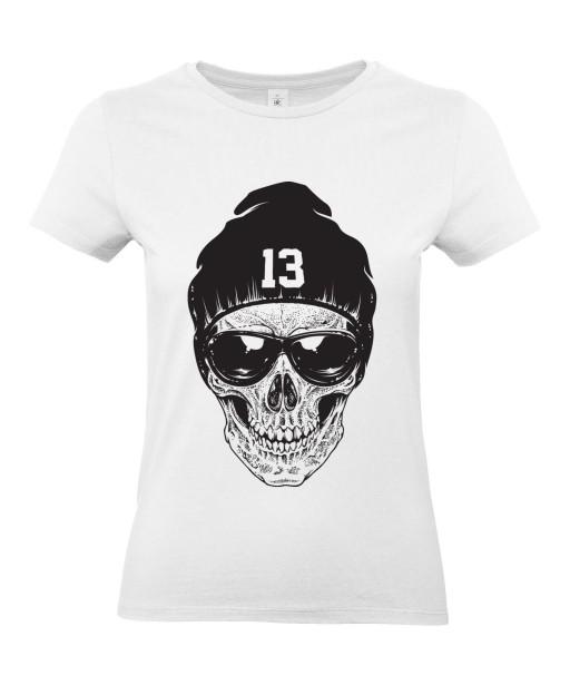 T-shirt Femme Tête de Mort Urban [Skull, Skater, Hip-Hop, Street Art, Swag] T-shirt Manches Courtes, Col Rond