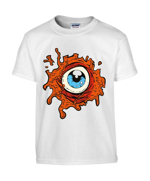 T-shirt Homme Oeil Trash [Horreur, Gore, Fun] T-shirt Manches Courtes, Col Rond