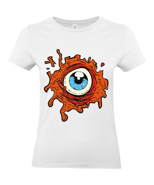 T-shirt Femme Oeil Trash [Horreur, Gore, Fun] T-shirt Manches Courtes, Col Rond